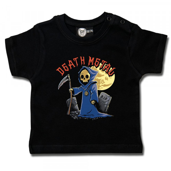 Death Metal Baby T-Shirt mit Aufdruck in multicolor auf Metal-Kids Markenware