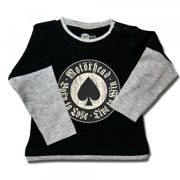 Motörhead (Born to Lose) Baby Skater Shirt mit Aufdruck in multicolor auf Metal-Kids Markenware