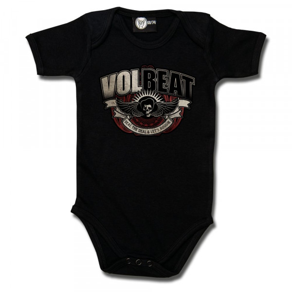 Volbeat (SkullWing Boogie) Baby Body mit Aufdruck in multicolor auf Metal-Kids Markenware