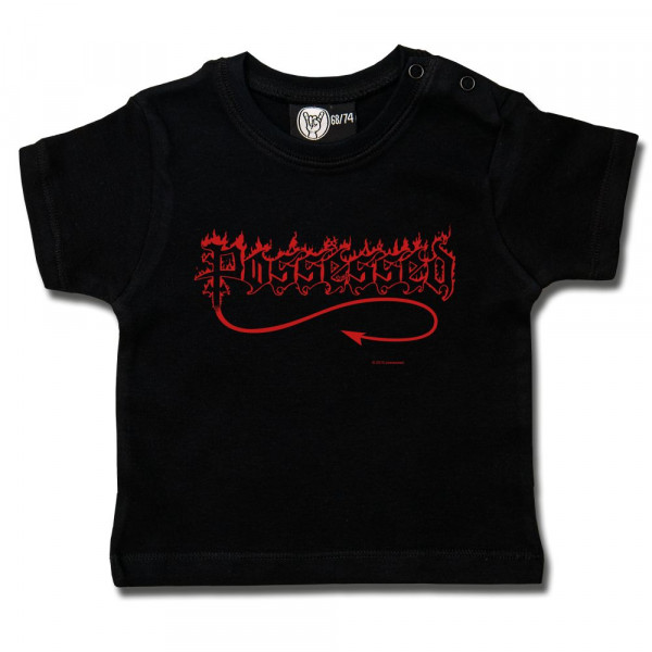 Possessed (Logo) Baby T-Shirt mit Aufdruck in rot auf Metal-Kids Markenware