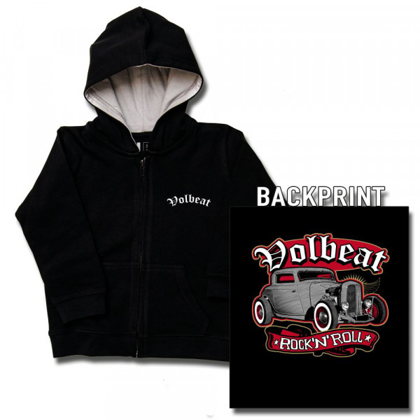 Volbeat (Rock 'n Roll) Baby Kapuzenjacke mit Aufdruck in multicolor auf Metal-Kids Markenware