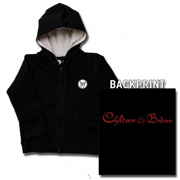 Children of Bodom (Logo) Baby Kapuzenjacke mit Aufdruck in rot auf Metal-Kids Markenware