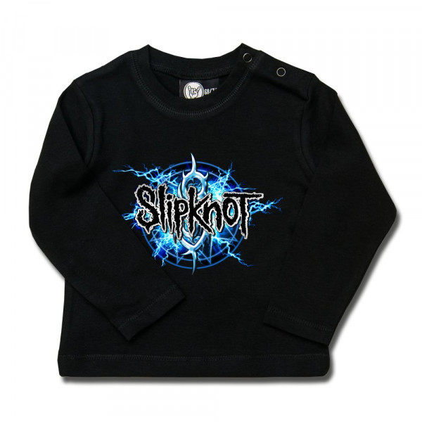 Slipknot (Electric Blue) Baby Longsleeve mit Aufdruck in multicolor auf Metal-Kids Markenware