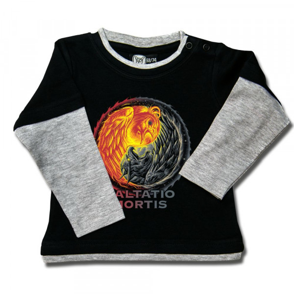 Saltatio Mortis (Yin & Yang) Baby Skater Shirt mit Aufdruck in multicolor auf Metal-Kids Markenware