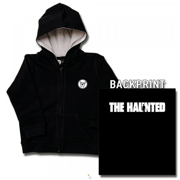 The Haunted (Logo) Baby Kapuzenjacke mit Aufdruck in weiß auf Metal-Kids Markenware