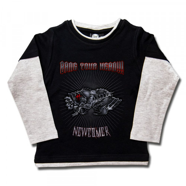Bang your Head (Newcomer) Kids Skater Shirt mit Aufdruck in multicolor auf Metal-Kids Markenware