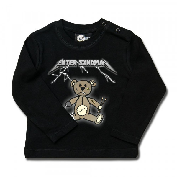 Enter Sandman (Metallica Tribute) Baby Longsleeve mit Aufdruck in multicolor auf Metal-Kids Markenware