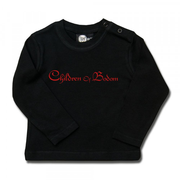 Children of Bodom (Logo) Baby Longsleeve mit Aufdruck in rot auf Metal-Kids Markenware