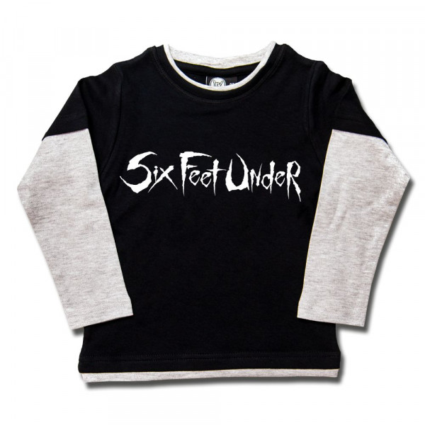 Six Feet Under (Logo) Kids Skater Shirt mit Aufdruck in weiß auf Metal-Kids Markenware