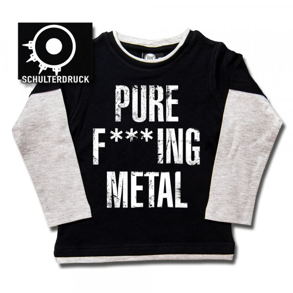 Arch Enemy (Pure F***ing Metal) Kids Skater Shirt mit Aufdruck in weiß auf Metal-Kids Markenware
