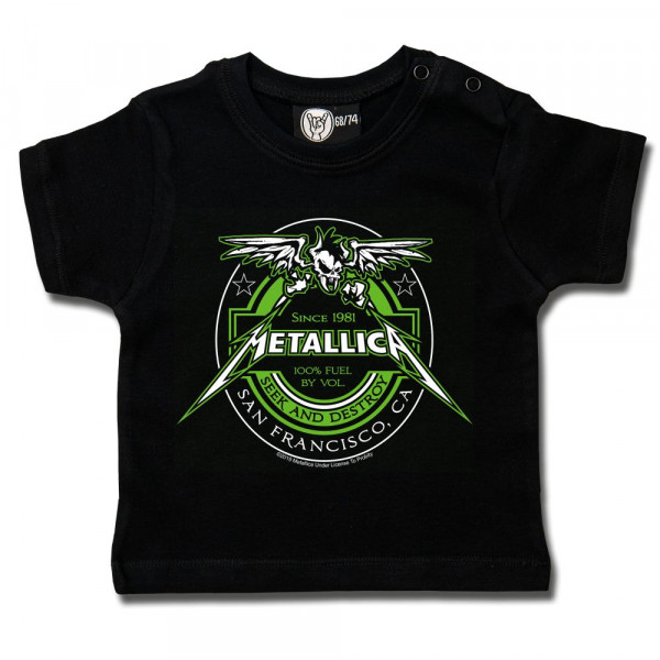Metallica (Fuel) Baby T-Shirt mit Aufdruck in multicolor auf Metal-Kids Markenware