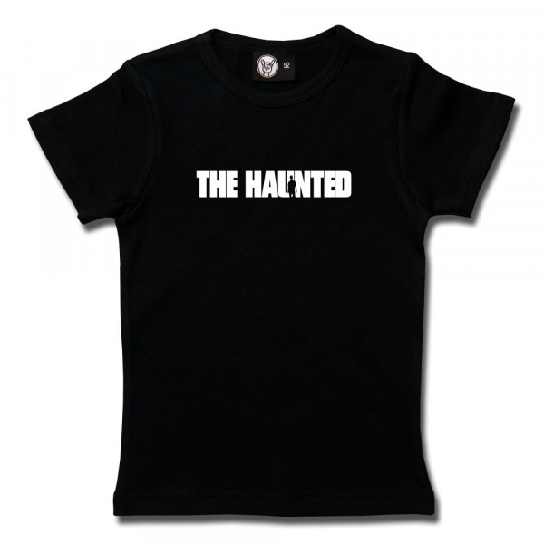 The Haunted (Logo) Girly Shirt mit Aufdruck in weiß auf Metal-Kids Markenware