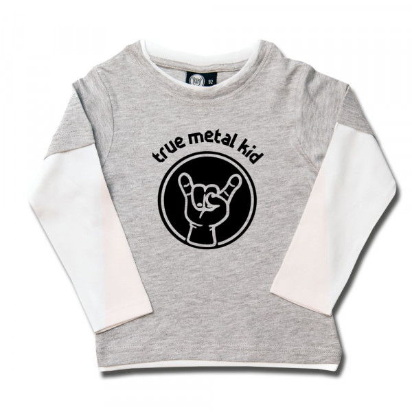 true metal kid Kids Skater Shirt mit Aufdruck in schwarz auf Metal-Kids Markenware