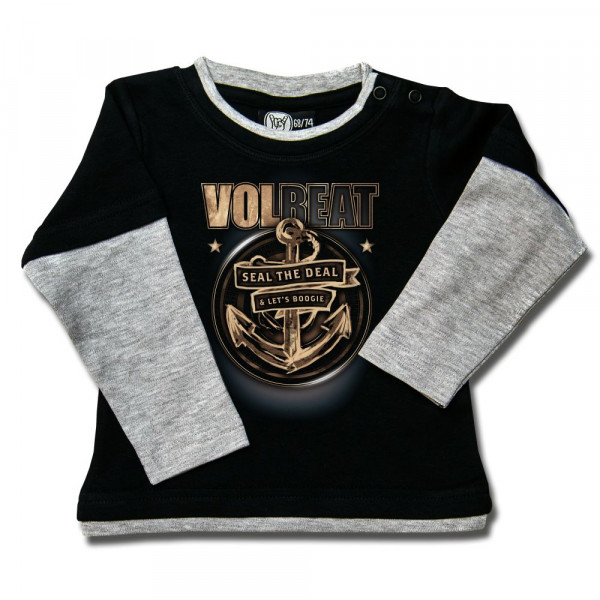 Volbeat (Anchor) Baby Skater Shirt mit Aufdruck in multicolor auf Metal-Kids Markenware