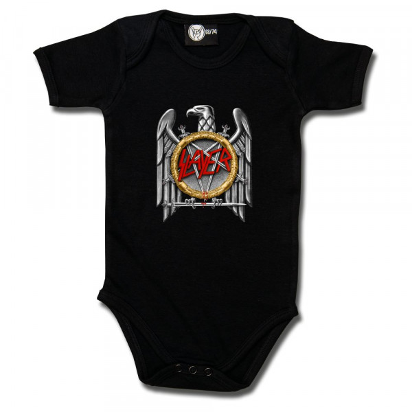 Slayer (Silver Eagle) Baby Body mit Aufdruck in multicolor auf Metal-Kids Markenware