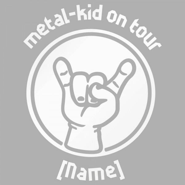 metal kid on tour Auto-Aufkleber