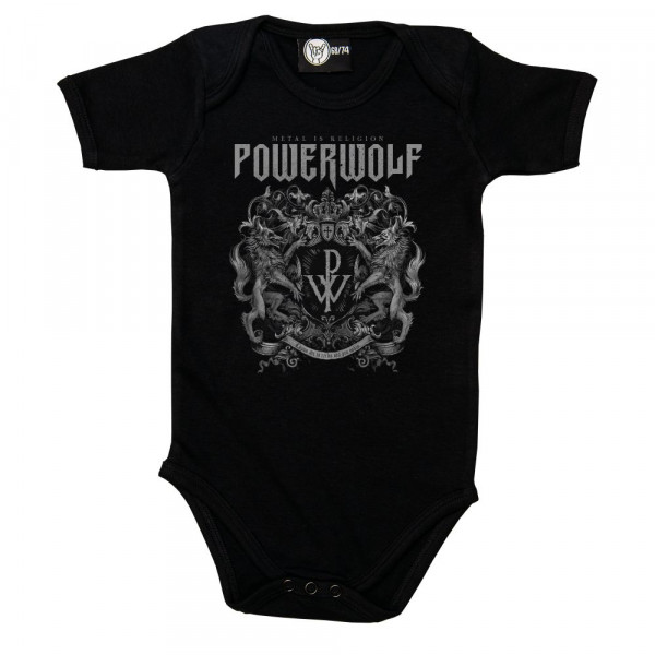 Powerwolf (Crest) Baby Body mit Aufdruck in multicolor auf Metal-Kids Markenware
