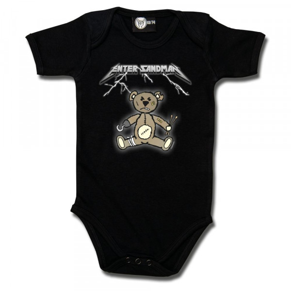 Enter Sandman (Metallica Tribute) Baby Body mit Aufdruck in multicolor auf Metal-Kids Markenware