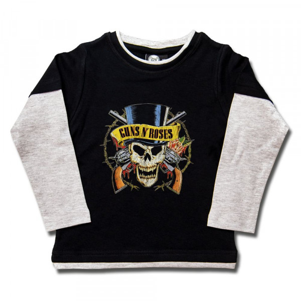 Guns 'n Roses (TopHat) Kids Skater Shirt mit Aufdruck in multicolor auf Metal-Kids Markenware
