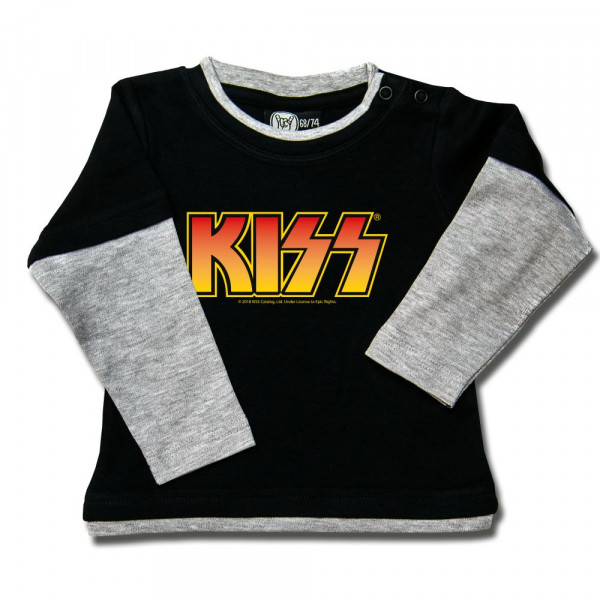 KISS (Logo, multi-col.) Baby Skater Shirt mit Aufdruck in multicolor auf Metal-Kids Markenware