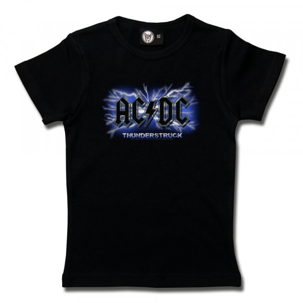 AC/DC (Thunderstruck) Girly Shirt mit Aufdruck in multicolor auf Metal-Kids Markenware