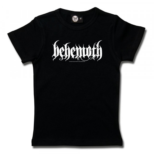 Behemoth (Logo) Girly Shirt mit Aufdruck in weiß auf Metal-Kids Markenware