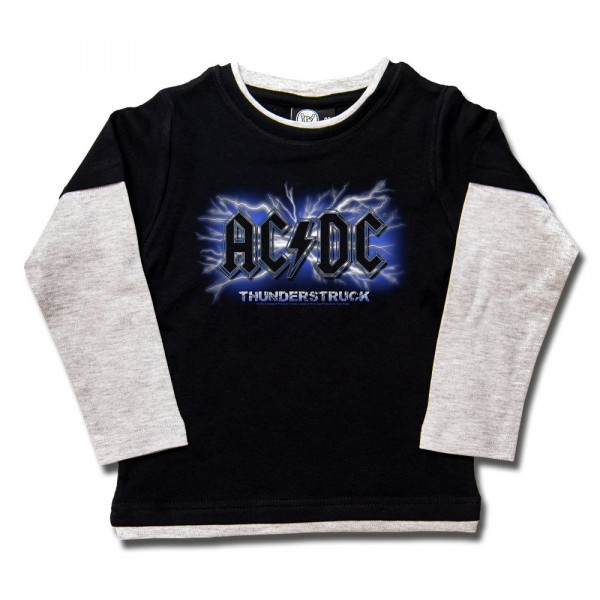 AC/DC (Thunderstruck) Kids Skater Shirt mit Aufdruck in multicolor auf Metal-Kids Markenware
