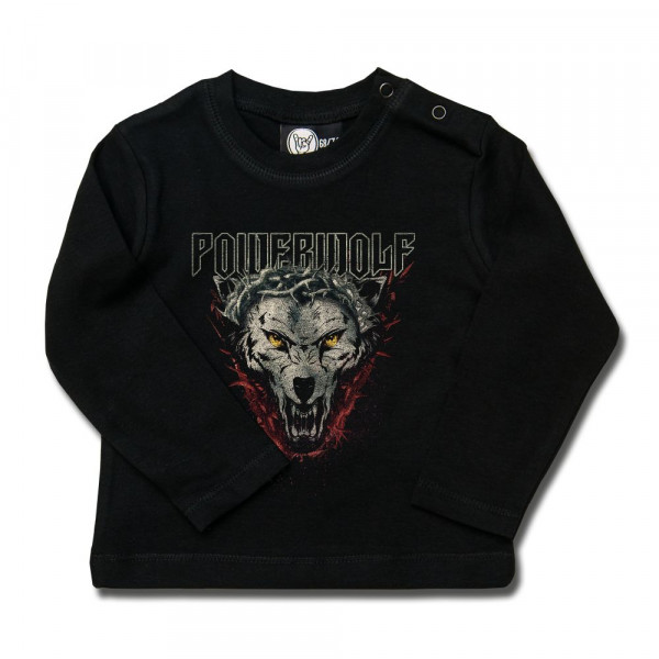 Powerwolf (Icon Wolf) Baby Longsleeve mit Aufdruck in multicolor auf Metal-Kids Markenware