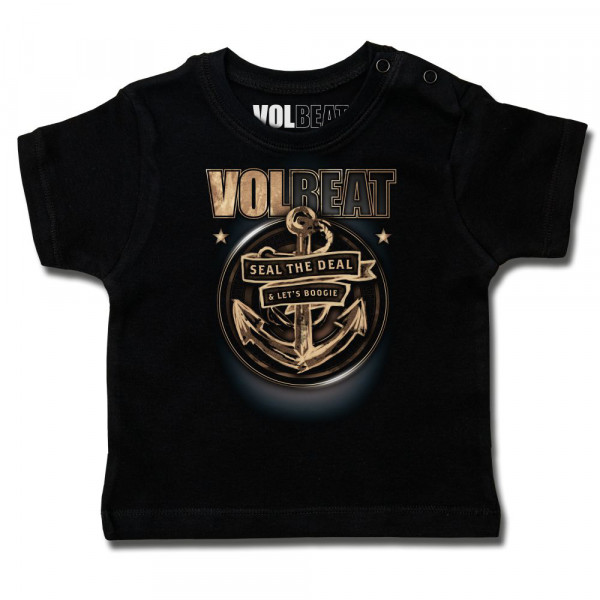 Volbeat (Anchor) Baby T-Shirt mit Aufdruck in multicolor auf Metal-Kids Markenware