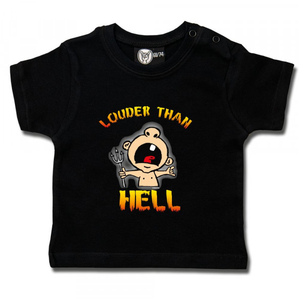 louder than hell Baby T-Shirt mit Aufdruck in multicolor auf Metal-Kids Markenware