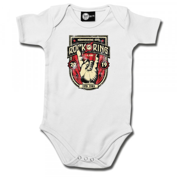 Rock am Ring (2019) Baby Body mit Aufdruck in multicolor auf Metal-Kids Markenware