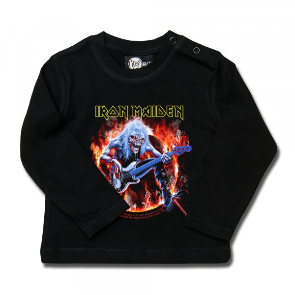 Iron Maiden (Fear Live Flame) Baby Longsleeve mit Aufdruck in multicolor auf Metal-Kids Markenware