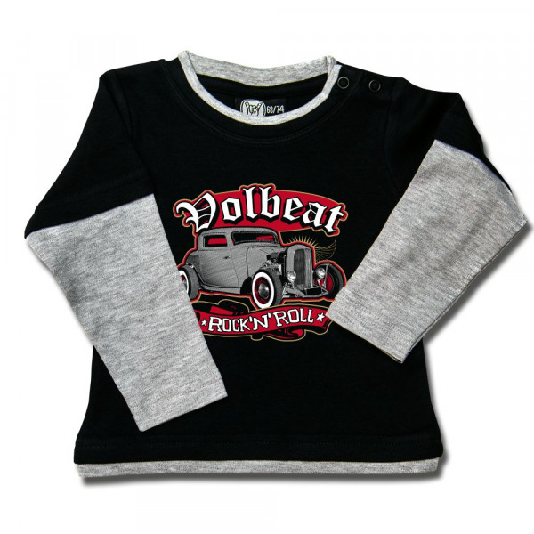 Volbeat (Rock 'n Roll) Baby Skater Shirt mit Aufdruck in multicolor auf Metal-Kids Markenware