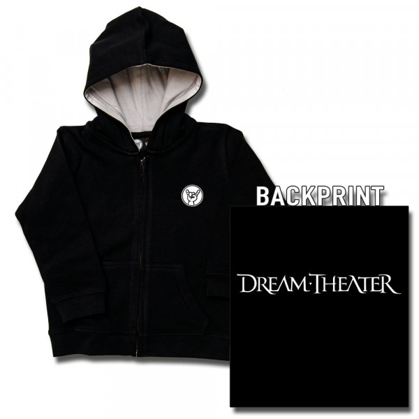 Dream Theater (Logo) Kids Kapuzenjacke mit Aufdruck in weiß auf Metal-Kids Markenware