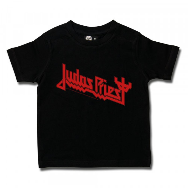 Judas Priest (Logo) Kids T-Shirt mit Aufdruck in rot auf Metal-Kids Markenware