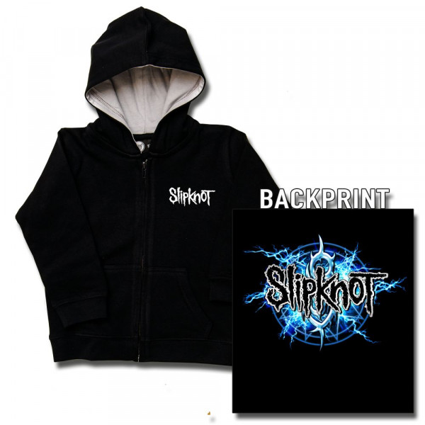 Slipknot (Electric Blue) Kids Kapuzenjacke mit Aufdruck in multicolor auf Metal-Kids Markenware