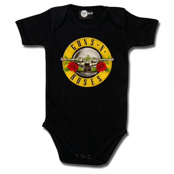 Guns 'n Roses (Bullet') Baby Body mit Aufdruck in multicolor auf Metal-Kids Markenware
