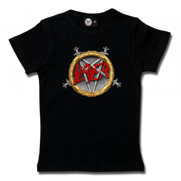 Slayer (Pentagram) Girly Shirt mit Aufdruck in multicolor auf Metal-Kids Markenware