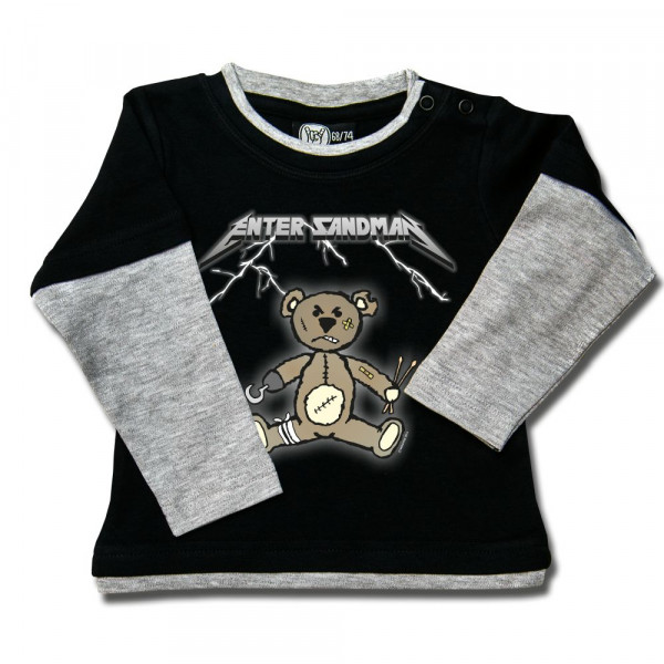 Enter Sandman (Metallica Tribute) Baby Skater Shirt mit Aufdruck in multicolor auf Metal-Kids Markenware