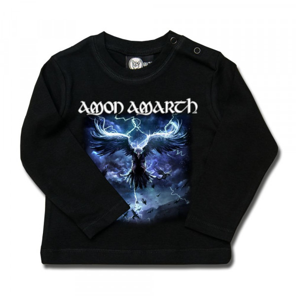 Amon Amarth (Raven's Flight) Baby Longsleeve mit Aufdruck in multicolor auf Metal-Kids Markenware