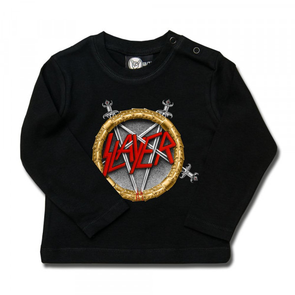 Slayer (Pentagram) Baby Longsleeve mit Aufdruck in multicolor auf Metal-Kids Markenware