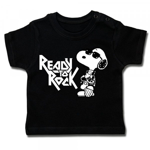 Peanuts (Ready to Rock) Baby T-Shirt mit Aufdruck in multicolor auf Kids-Fanshop Markenware