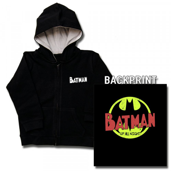Batman (Up All Night) Baby Kapuzenjacke mit Aufdruck in multicolor auf Kids-Fanshop Markenware