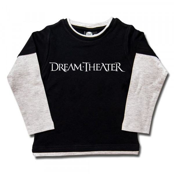 Dream Theater (Logo) Kids Skater Shirt mit Aufdruck in weiß auf Metal-Kids Markenware