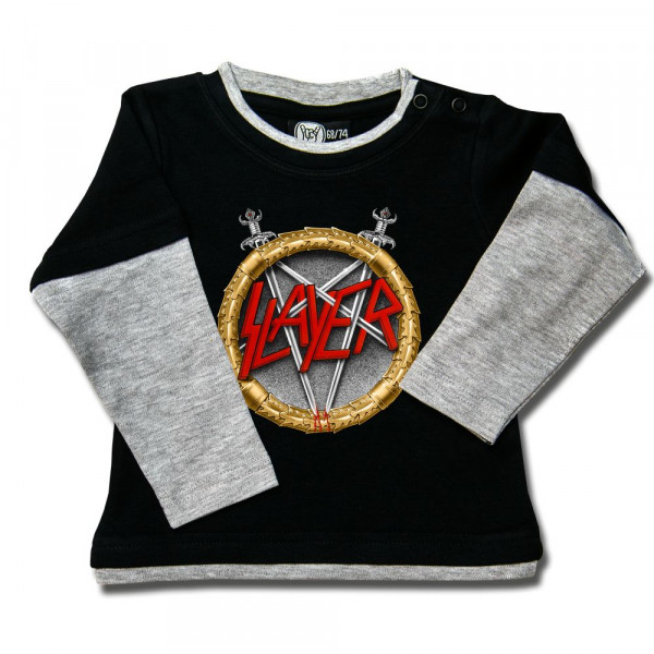 Slayer (Pentagram) Baby Skater Shirt mit Aufdruck in multicolor auf Metal-Kids Markenware