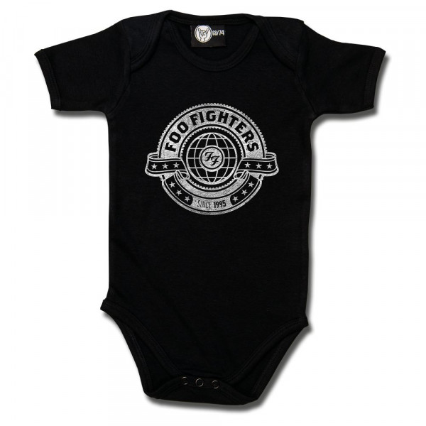 Foo Fighters (World) Baby Body mit Aufdruck in weiß auf Metal-Kids Markenware