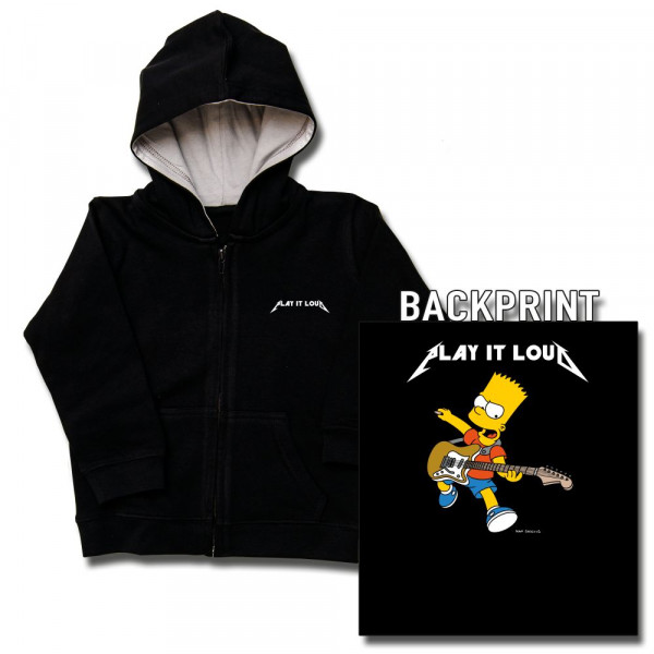 The Simpsons (Play it Loud) Kids Kapuzenjacke mit Aufdruck in multicolor auf Kids-Fanshop Markenware