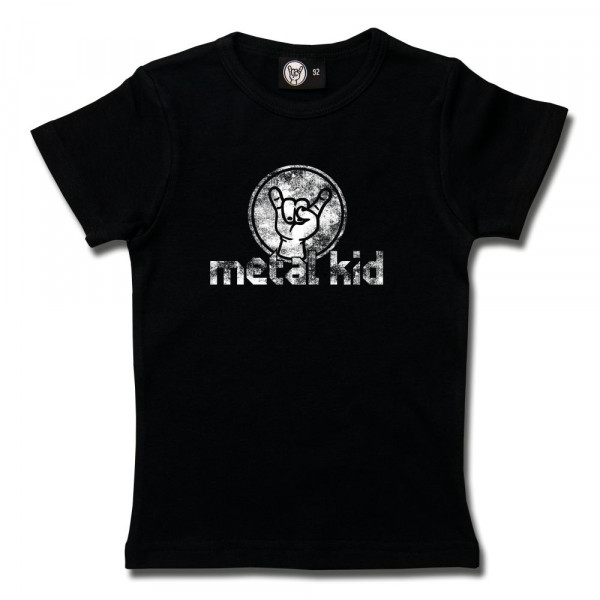 metal kid (Vintage) Girly Shirt mit Aufdruck in weiß auf Metal-Kids Markenware