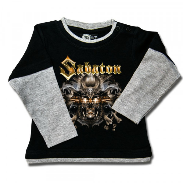 Sabaton (Metalizer) Baby Skater Shirt mit Aufdruck in multicolor auf Metal-Kids Markenware