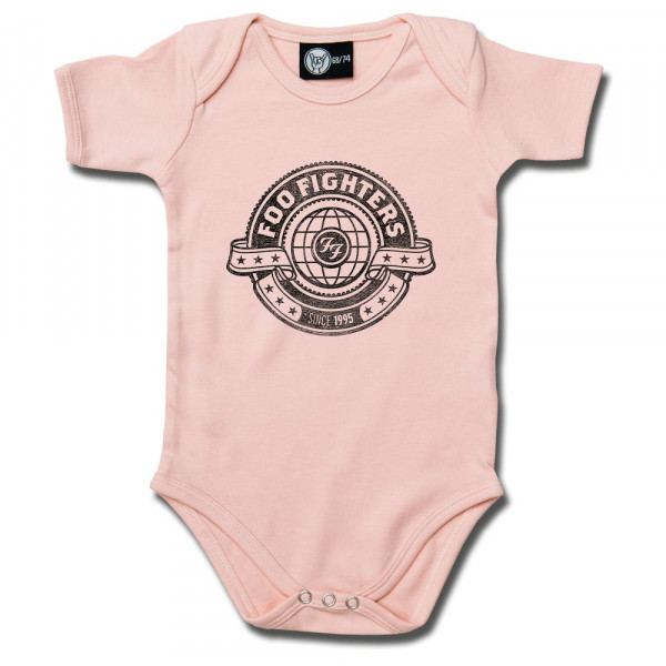 Foo Fighters (World) Baby Body mit Aufdruck in schwarz auf Metal-Kids Markenware
